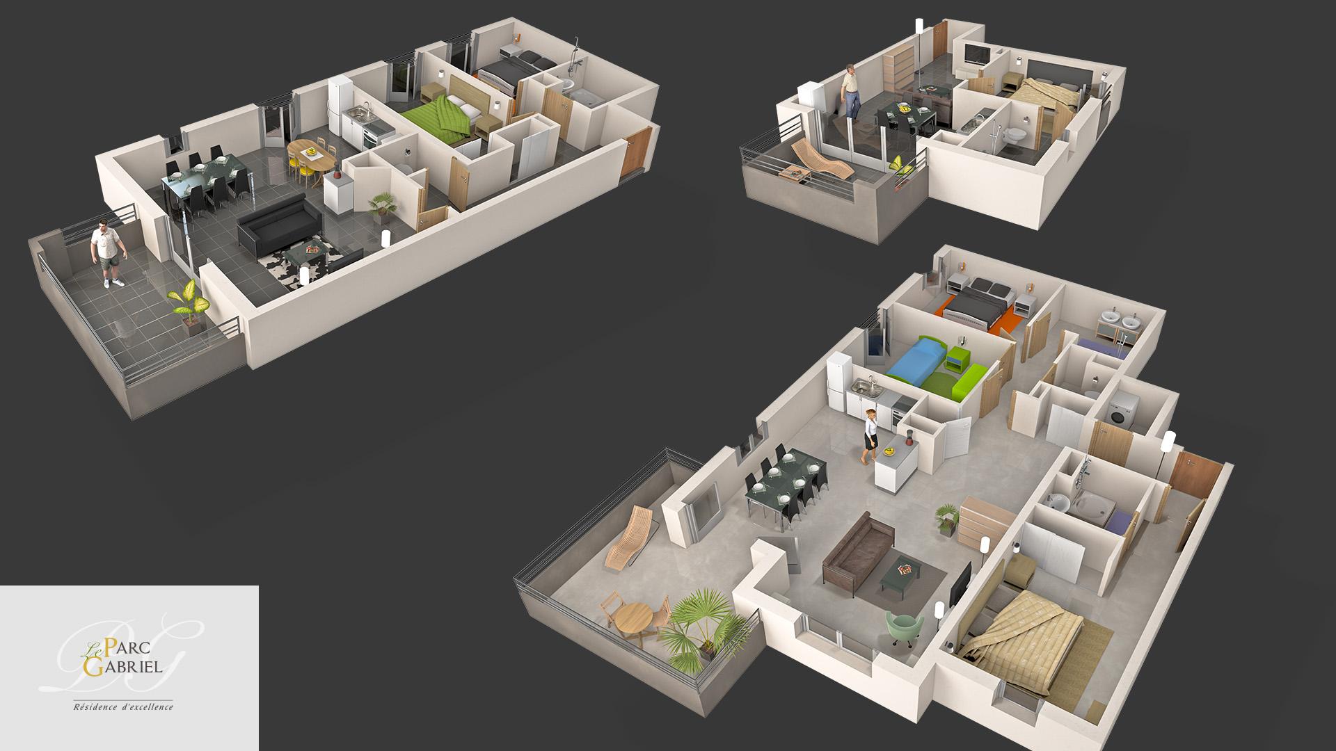 Vue en coupe des appartements