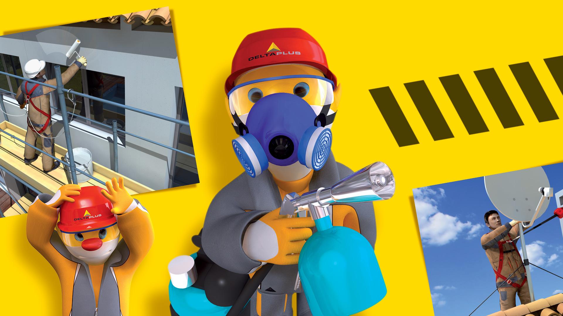 Illustration d'une mascotte 3d