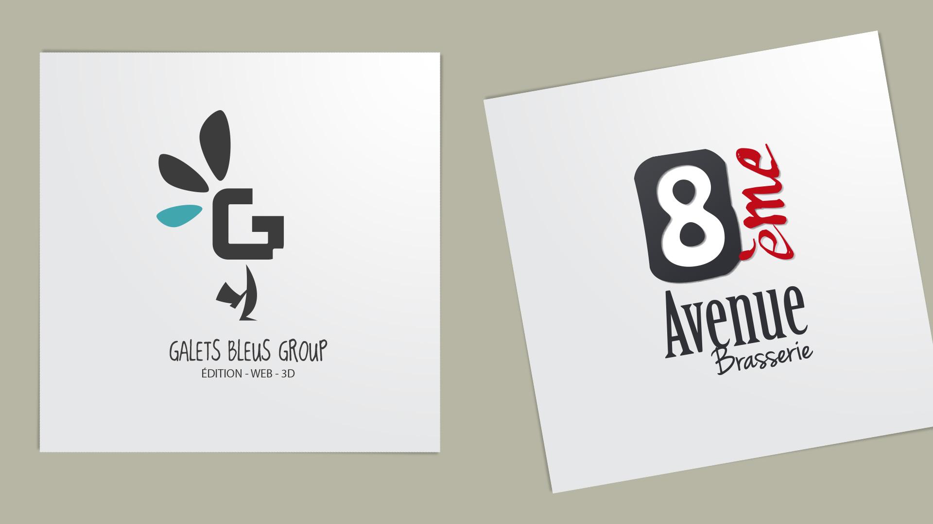 Logo : Galets Bleus Group, 8ème Avenue