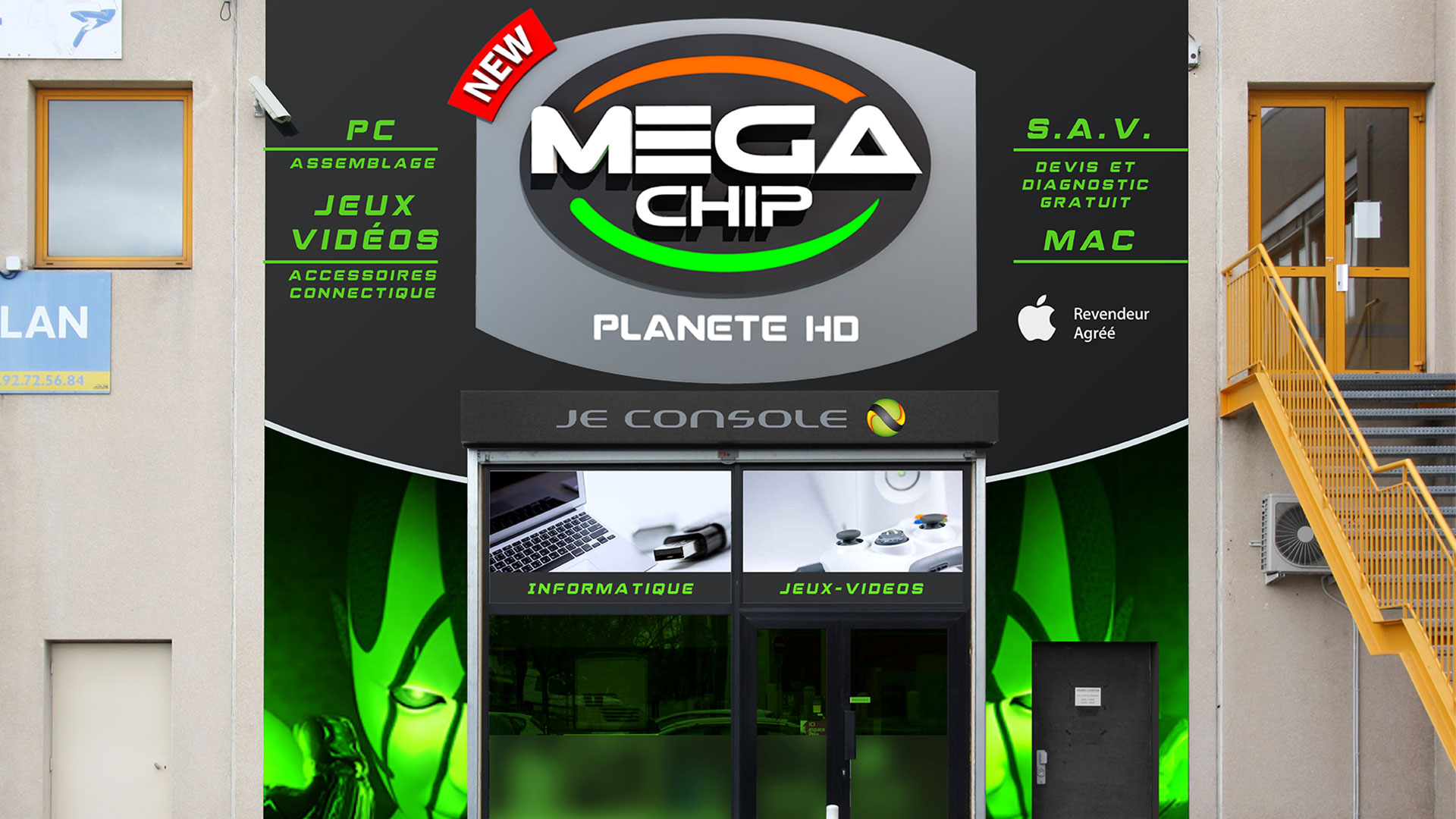 Enseigne Mega Chip