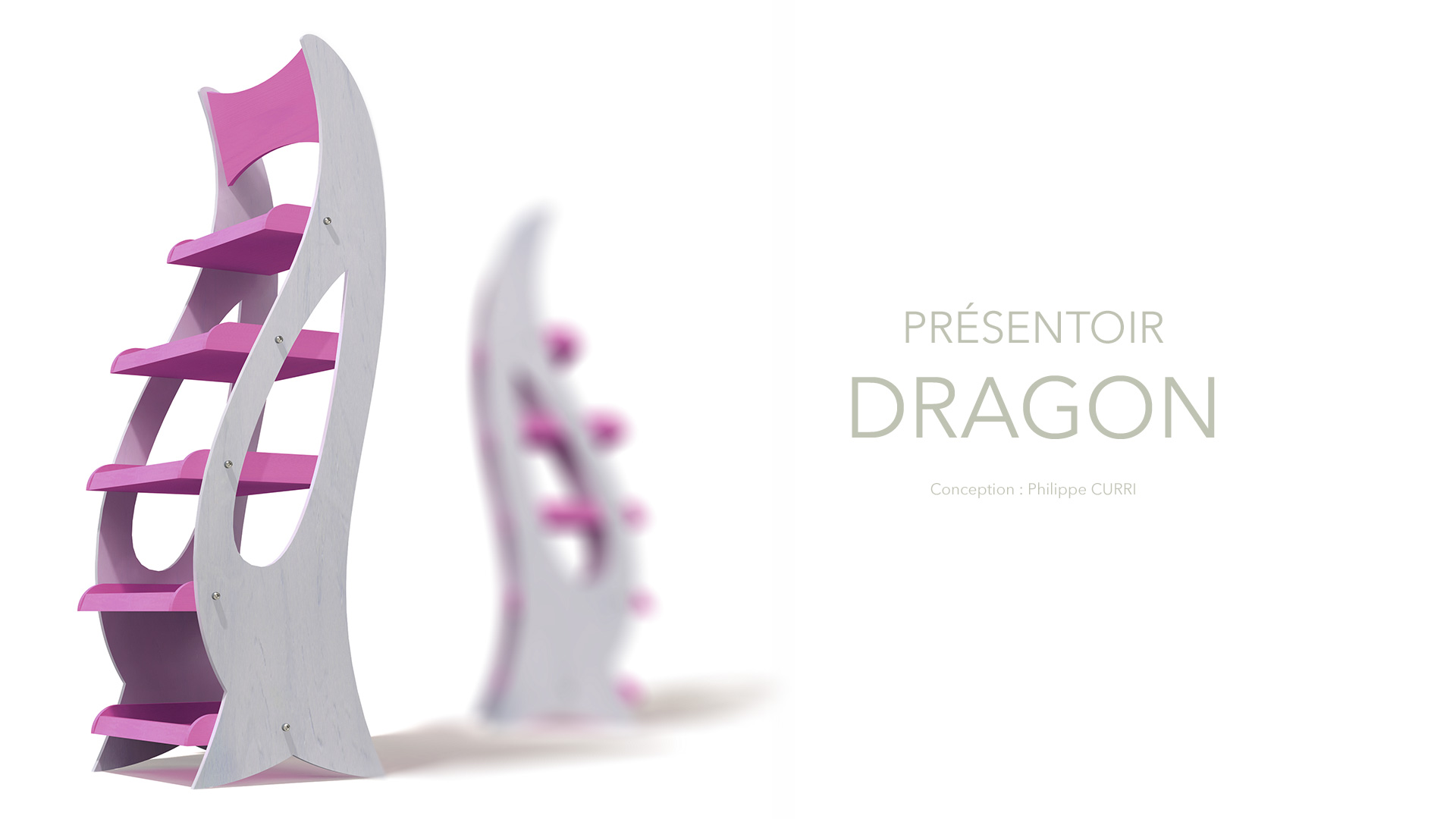 Design présentoirs Dragon