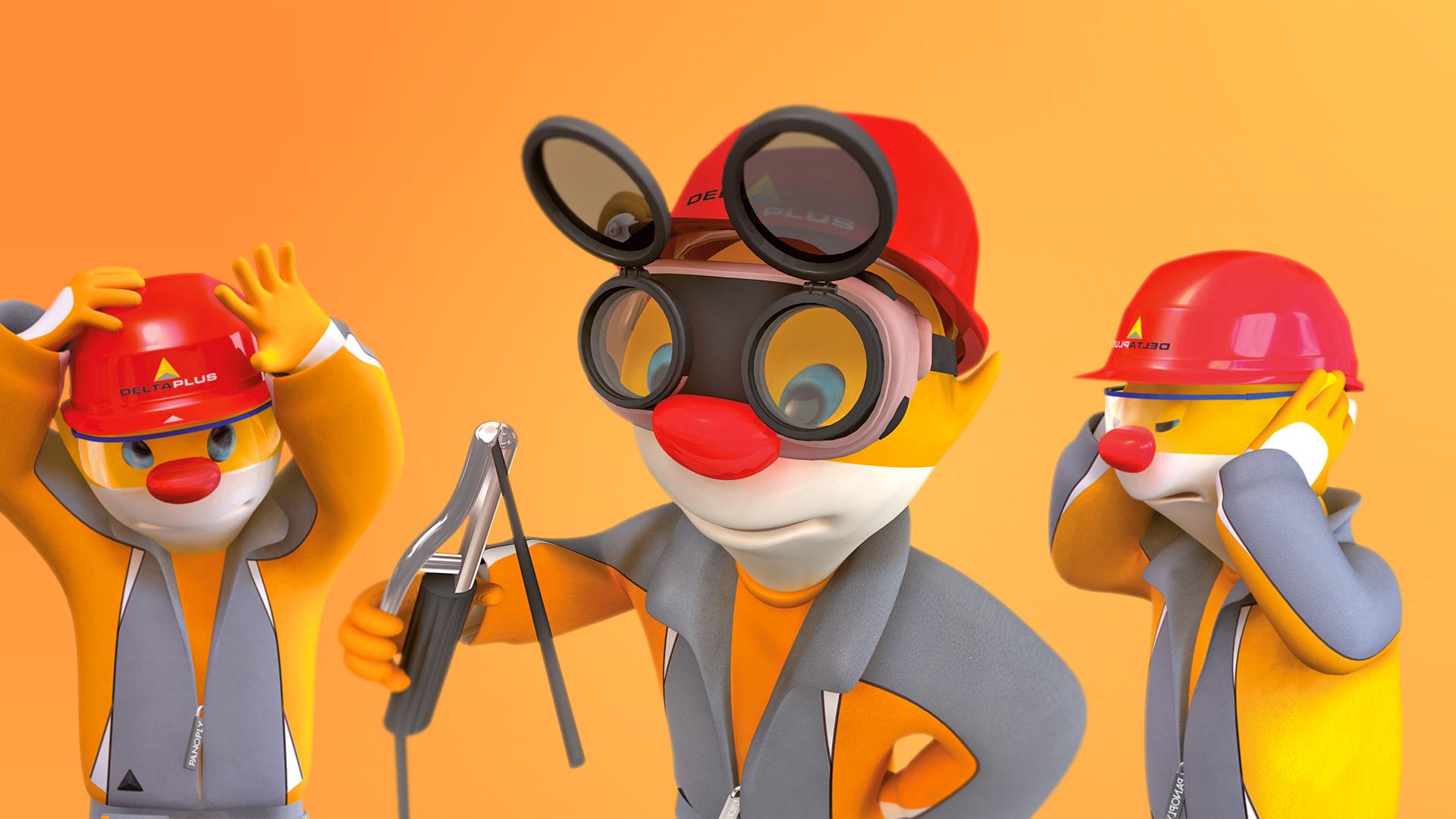 Mascotte 3D marmotte deltaPlus