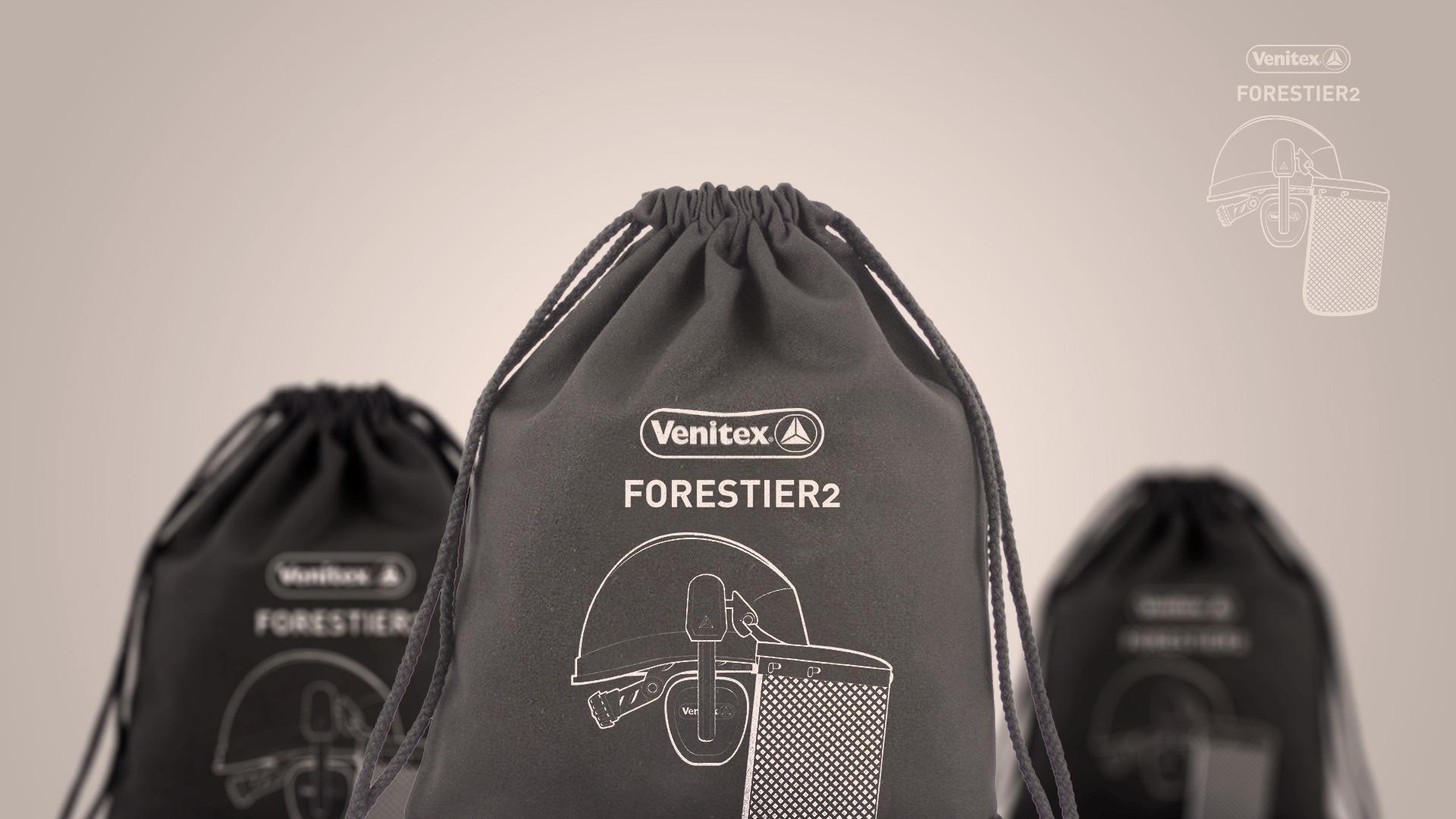 Packagings : marquage sur sac noir Venitex