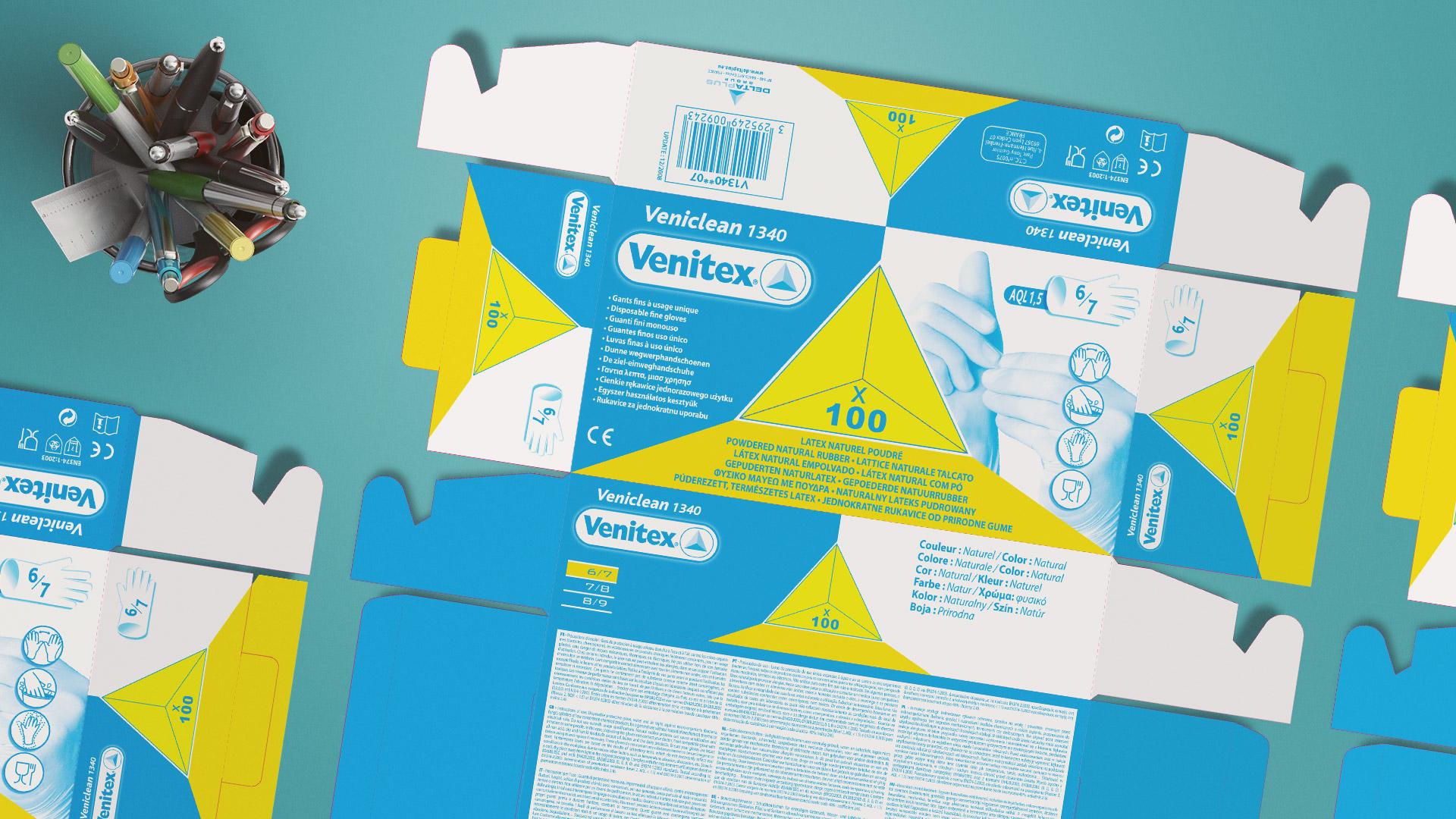 Packagings : développés de boites Venitex
