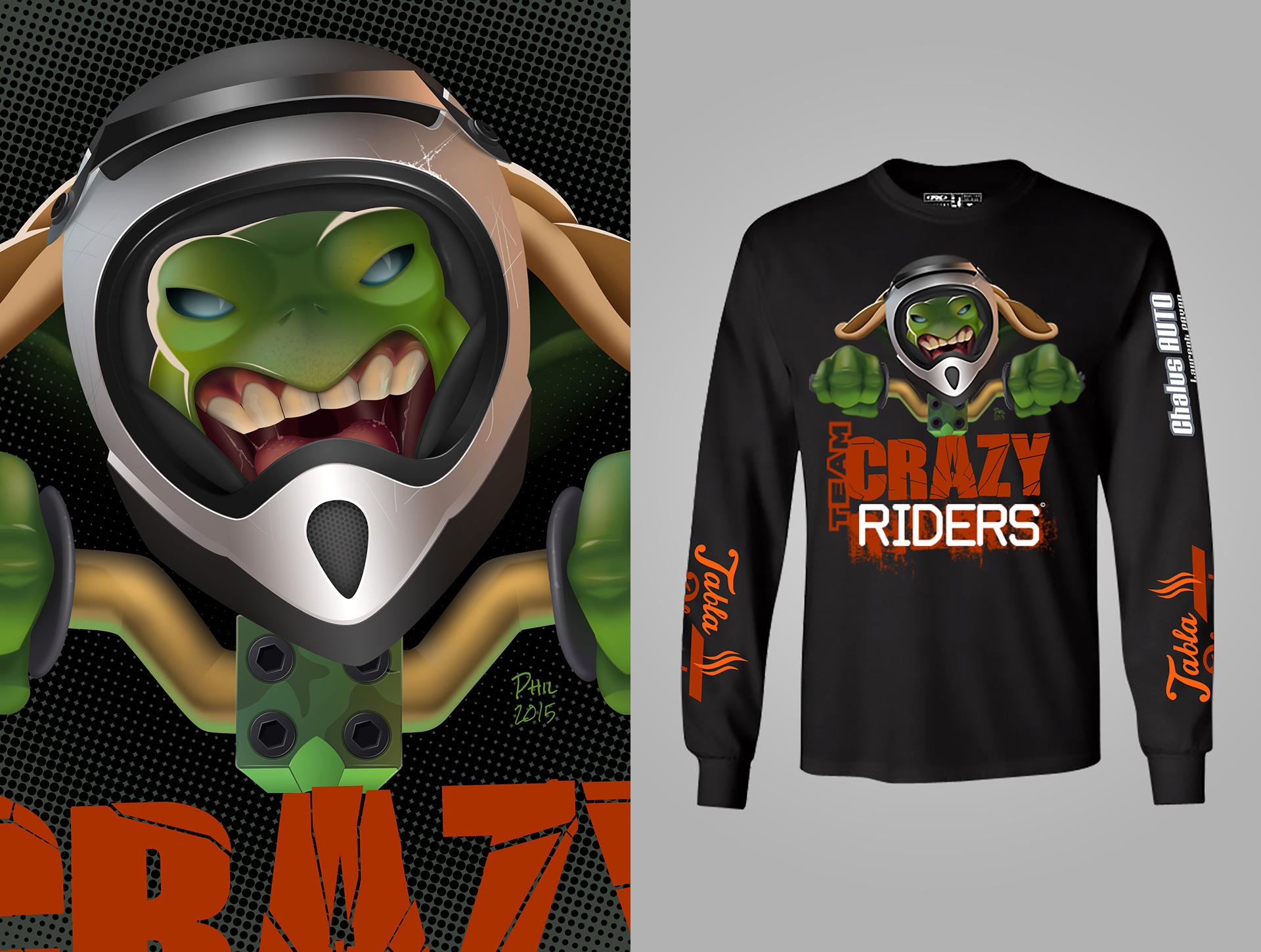 Illustration Team Crazy Riders, infographiste illustration 2D/ 3D