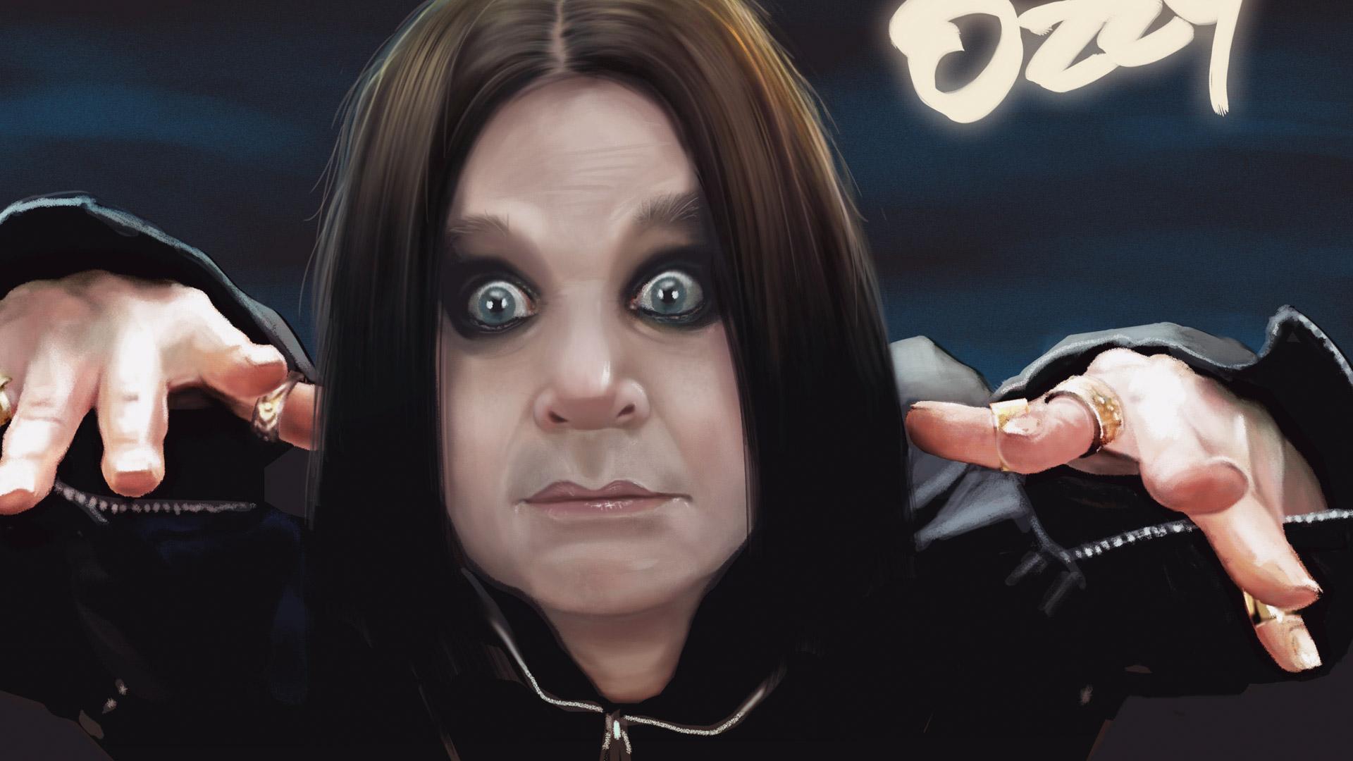 Illustration portrait Ozzy Osbourne, infographiste illustration 2D/ 3D