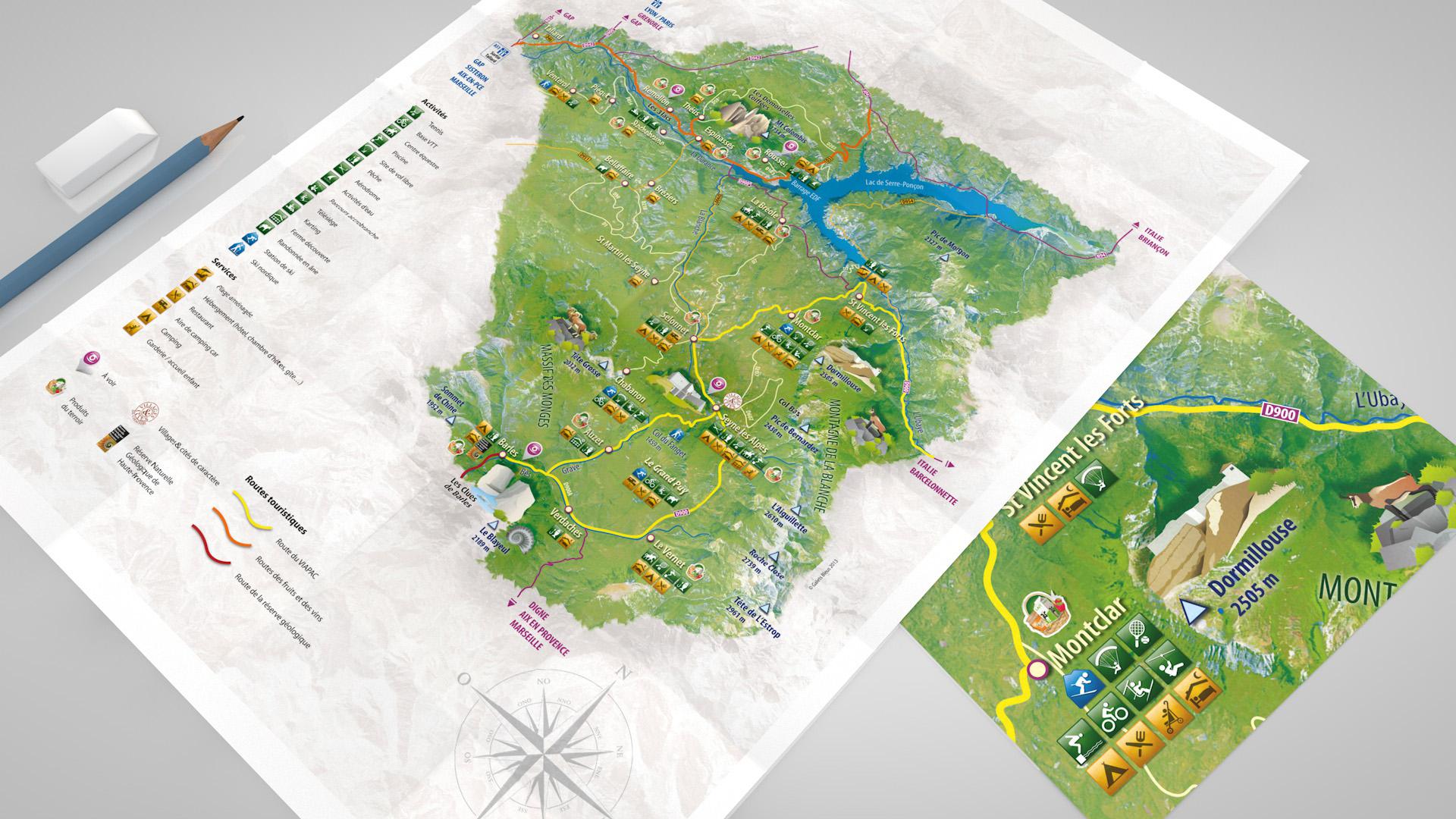 Illustration carte touristique