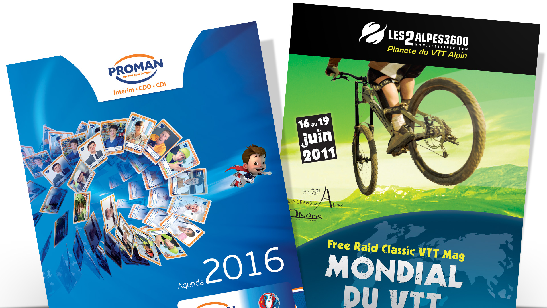 Flyers, affiches et PLV : affiche Proman et Mondial du VTT
