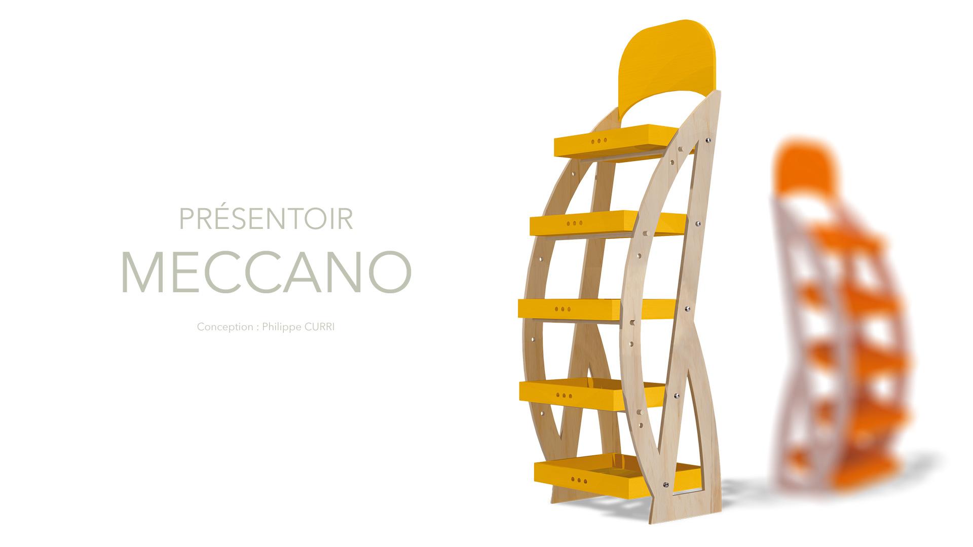 Design présentoirs Meccano