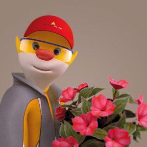 Vignette 3d mascotte