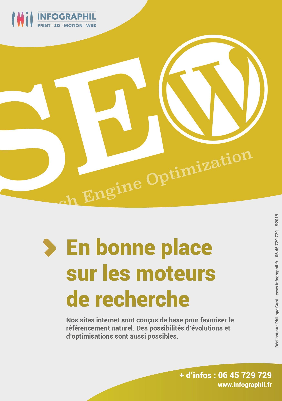 En bonne place sur les moteurs de recherche Nos sites internet sont conçus de base pour favoriser le référencement naturel. Des possibilités d'évolutions et d'optimisations sont aussi possibles.